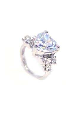 Swarovski kristályos Nagy Szives gyűrű-8