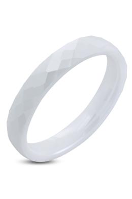 Fehér kerámia gyűrű metszett felülettel - 4 mm-6