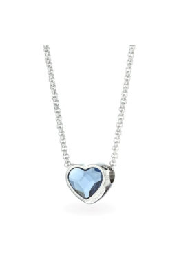 Swarovski® kristályos nemesacél nyaklánc - SW Heart KÉK