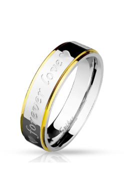 6 mm - Forever love - feliratos nemesacél karikagyűrű