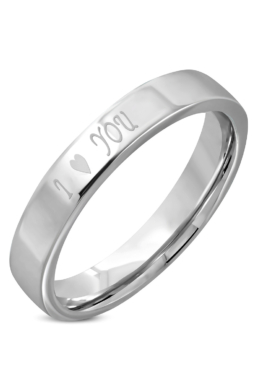 Ezüst színű -I love you- feliratos nemesacél gyűrű-9
