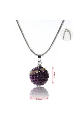Shamballa nyaklánc - sötét lila