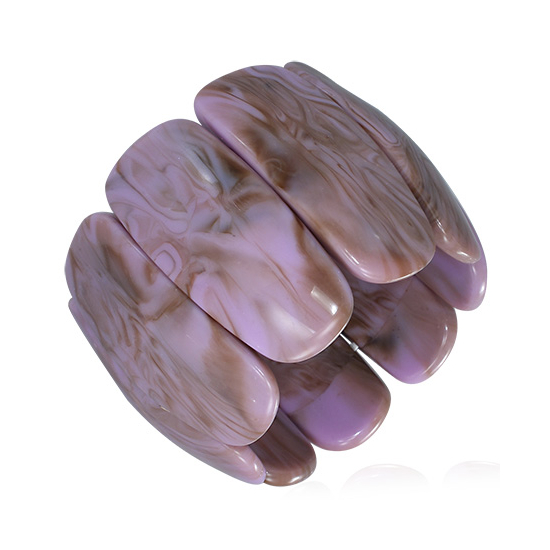 Lila - barna színű, rugalmas akril karkötő