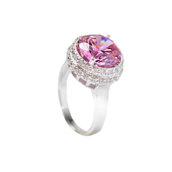 Swarovski kristályos gyűrű Rózsaszin -7