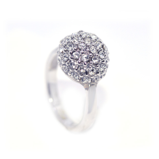 Swarovski apró köves gömb alakú  gyűrű-6