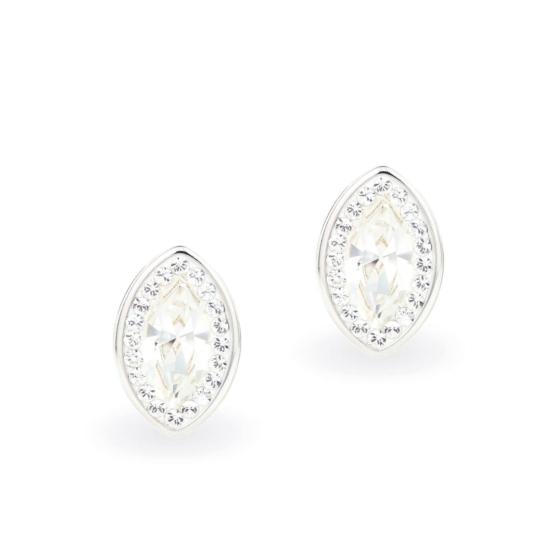 Swarovski ® kristályos ezüst fülbevaló - Brilliance Queen Fehér