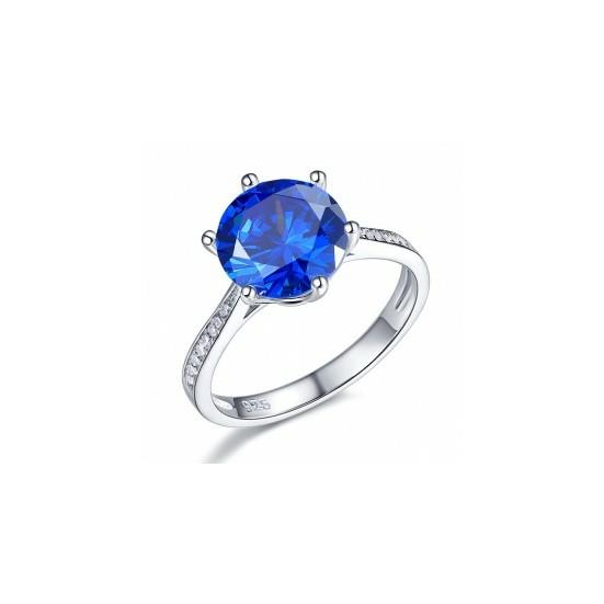 Ezüst kék gyémánt gyűrű-7