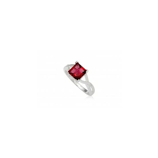 Ezüst gyűrű rózsaszín cirkónia kristállyal-7