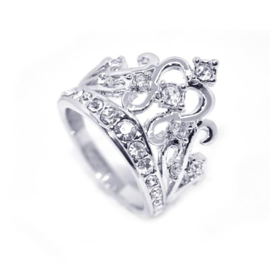 Korona alakú, Swarovski kristályos gyűrű-8