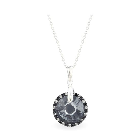 Swarovski® kristályos ezüst nyaklánc - LA MARIA Sun Fekete