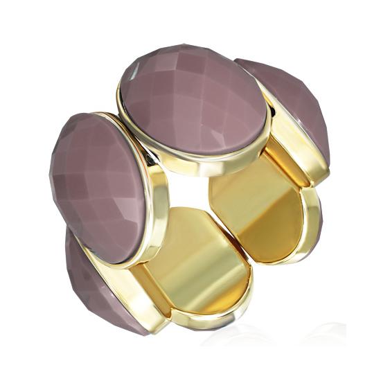 Pink Brown színű rugalmas divatos karkötő ékszer