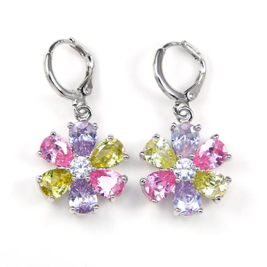Camellia Swarovski kristályos fülbevaló - Szines Virág