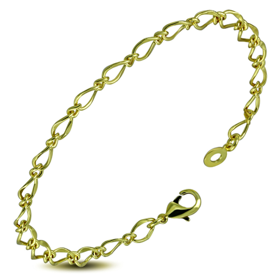 Arany színű karkötő, ovális szemekkel