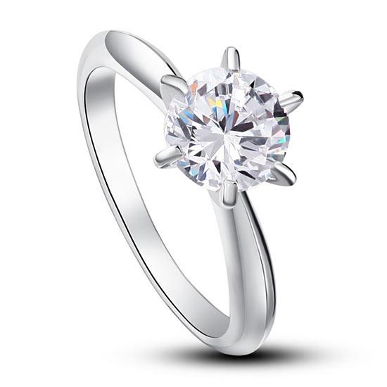 Ezüst gyűrű, fehér kővel-6