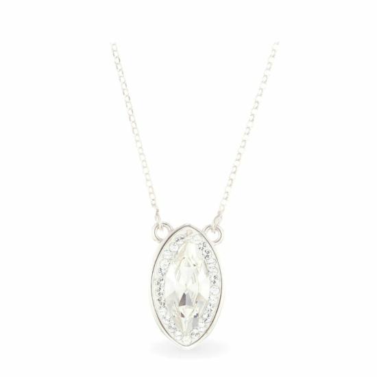 Swarovski® kristályos ezüst nyaklánc - Brilliance Queen Fehér