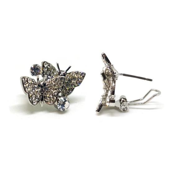 Swarovski kristályos fülbevaló:Pillangók