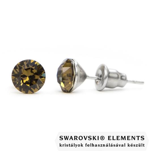 Jazzy szürke Swarovski® kristályos fülbevaló - Smoky Quartz