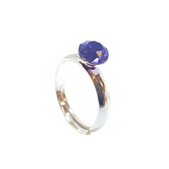 925 ezüst Gyűrű Swarovski® kristállyal - Tanzanite