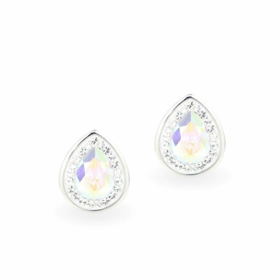 Swarovski ® kristályos ezüst fülbevaló - Brilliance Drop Crystal AB
