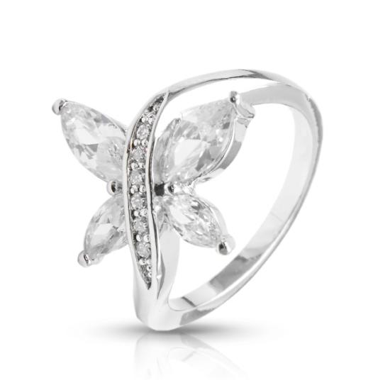 Pillangós gyűrű Swarovski kristállyal -7