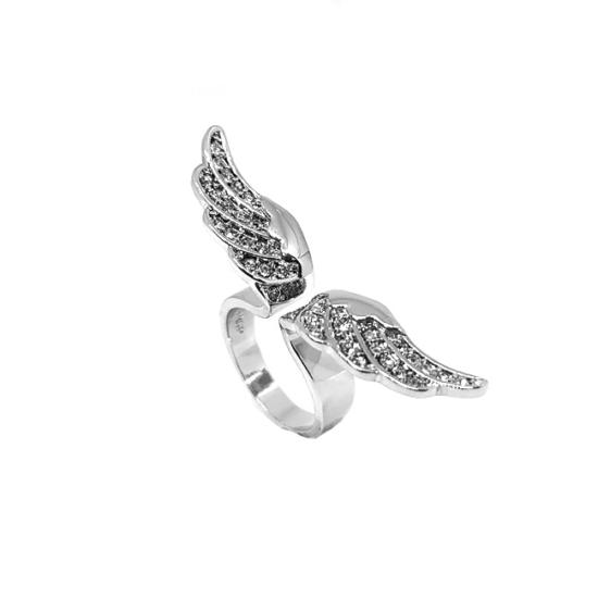 Swarovski kristályos, szárnyas gyűrű-7