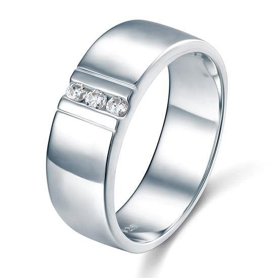 Ezüst gyűrű szintetikus gyémánt kövekkel-11