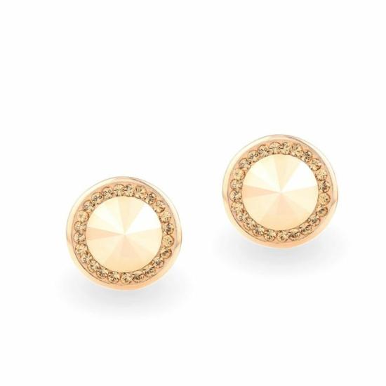 Swarovski ® kristályos ezüst fülbevaló - Rivoli Orbit Gold