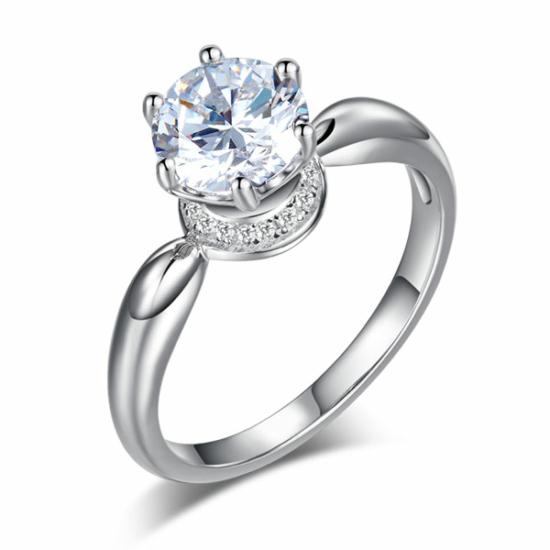 Ezüst gyűrű kristállyal-7
