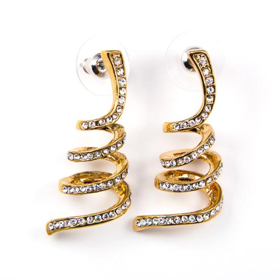 Breeze Swarovski kristályos fülbevaló - Arany színű