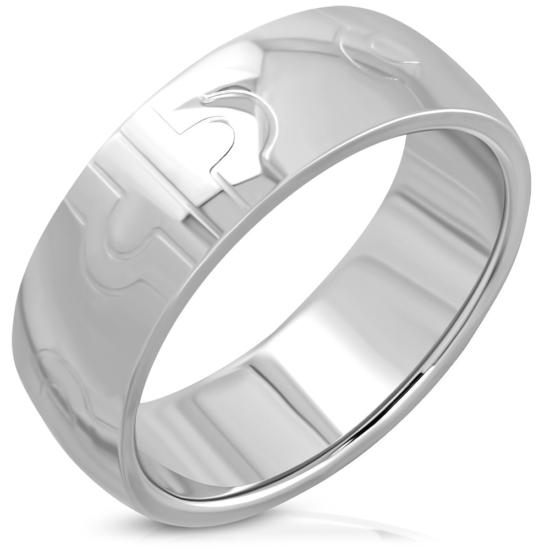 GOEL - Ezüst színű nemesacél gyűrű ékszer