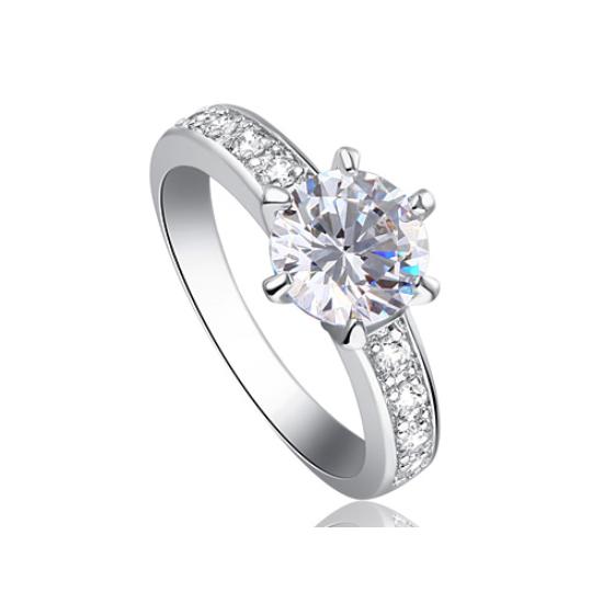 Swarovski kristályos  egyszerű izléses köves gyűrű