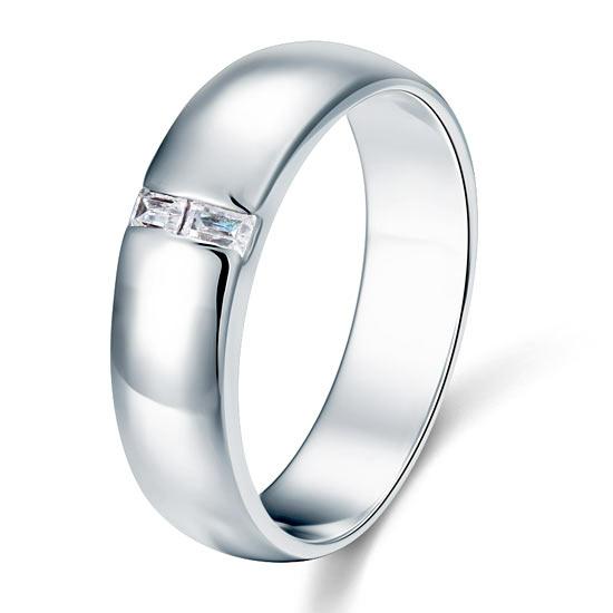 Ezüst gyűrű szintetikus gyémánt kövekkel-9