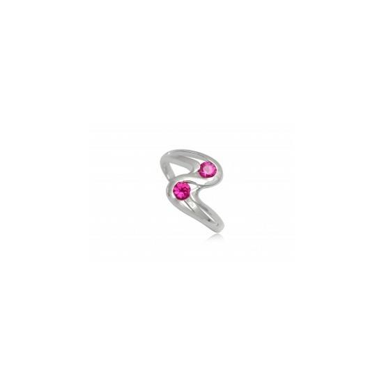 Ezüst gyűrű pink cirkónia kristállyal-8