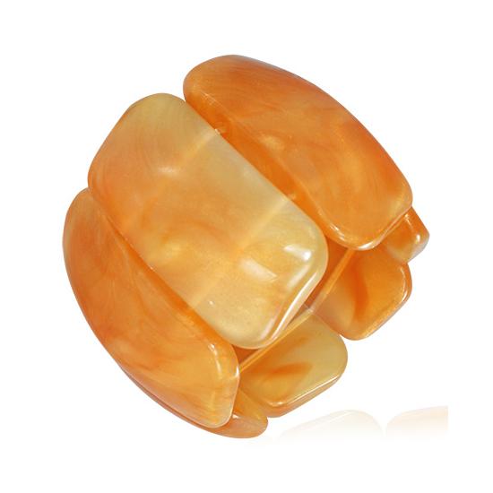 Méz színű, rugalmas akril karkötő