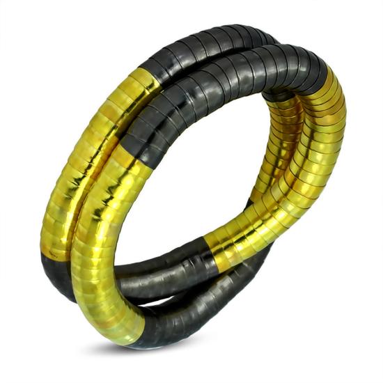 Arany - barna színű, formázható divatos karkötő