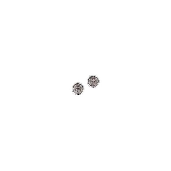 Swarovski ® kristályos nemesacél fülbevaló - VIVA black-gold