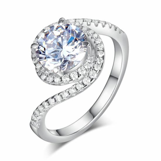 Csavart formájú ezüst gyűrű-8
