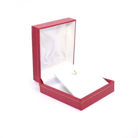 Piros színű ékszer tartó díszdoboz szett, nyaklánc, medál, fülbevaló