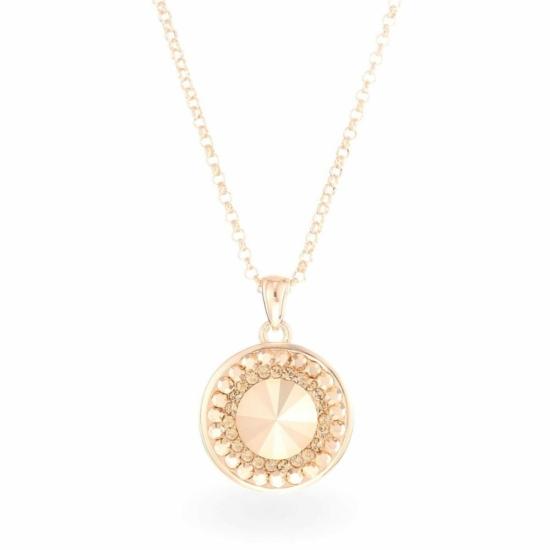 Swarovski® kristályos ezüst nyaklánc - Rivoli Orbit Gold
