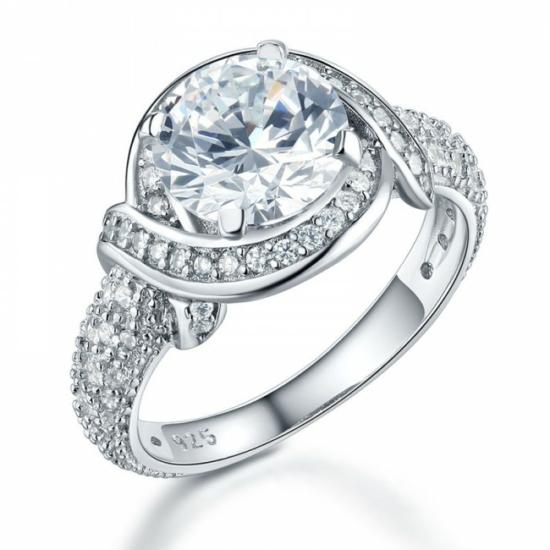 Ezüst gyémánt gyűrű-9