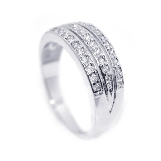 Swarovski kristályos egyszerű  gyűrű-7