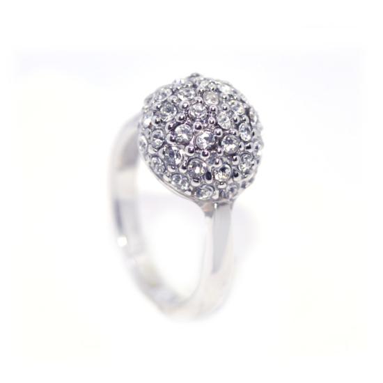 Swarovski apró köves gömb alakú gyűrű