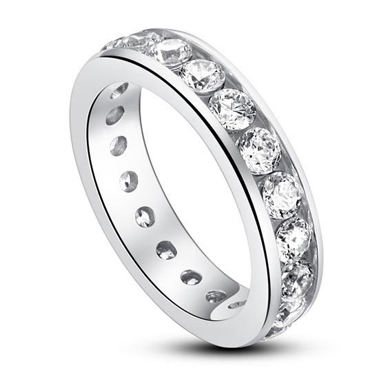 Ezüst gyűrű szintetikus gyémánt kövekkel-6