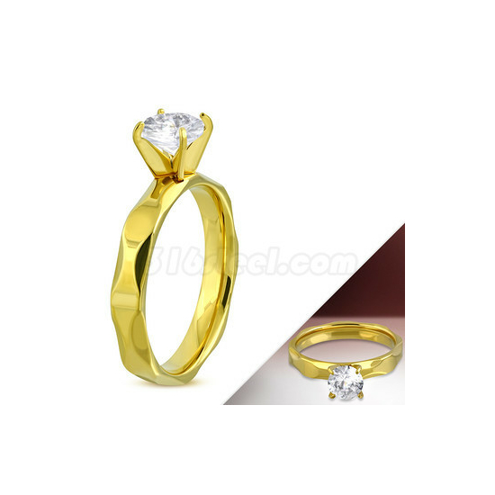 Ezüst gyűrű apró kövekkel-9