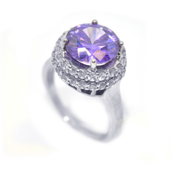 Swarovski kristályos gyűrű Lila -7