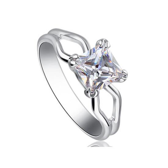 Swarovski kristályos kocka köves gyűrű -7