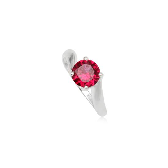 Ezüst gyűrű pink cirkónia kristállyal-7