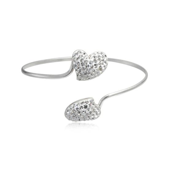 Ezüst karperec - 925 ezüst ékszer - Szív