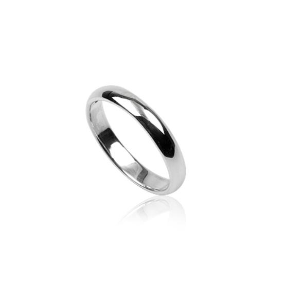 Tükörfényes ezüst gyűrű