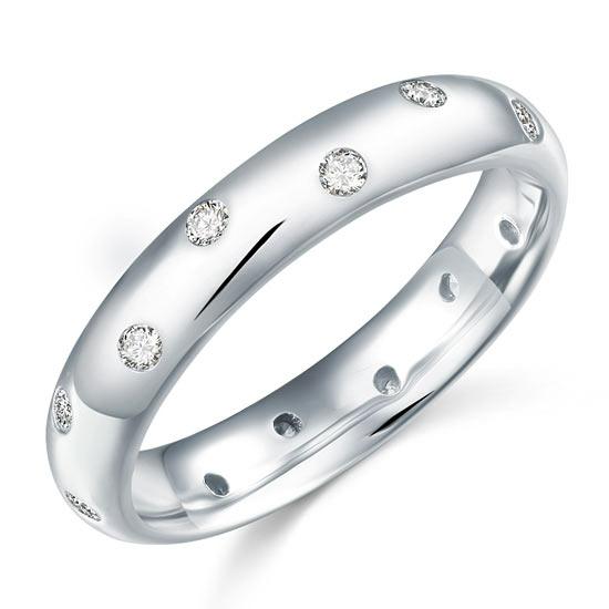 Ezüst gyűrű szintetikus gyémánt kövekkel-5